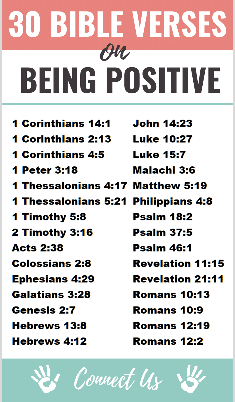 Bible Verses on Being Positive
