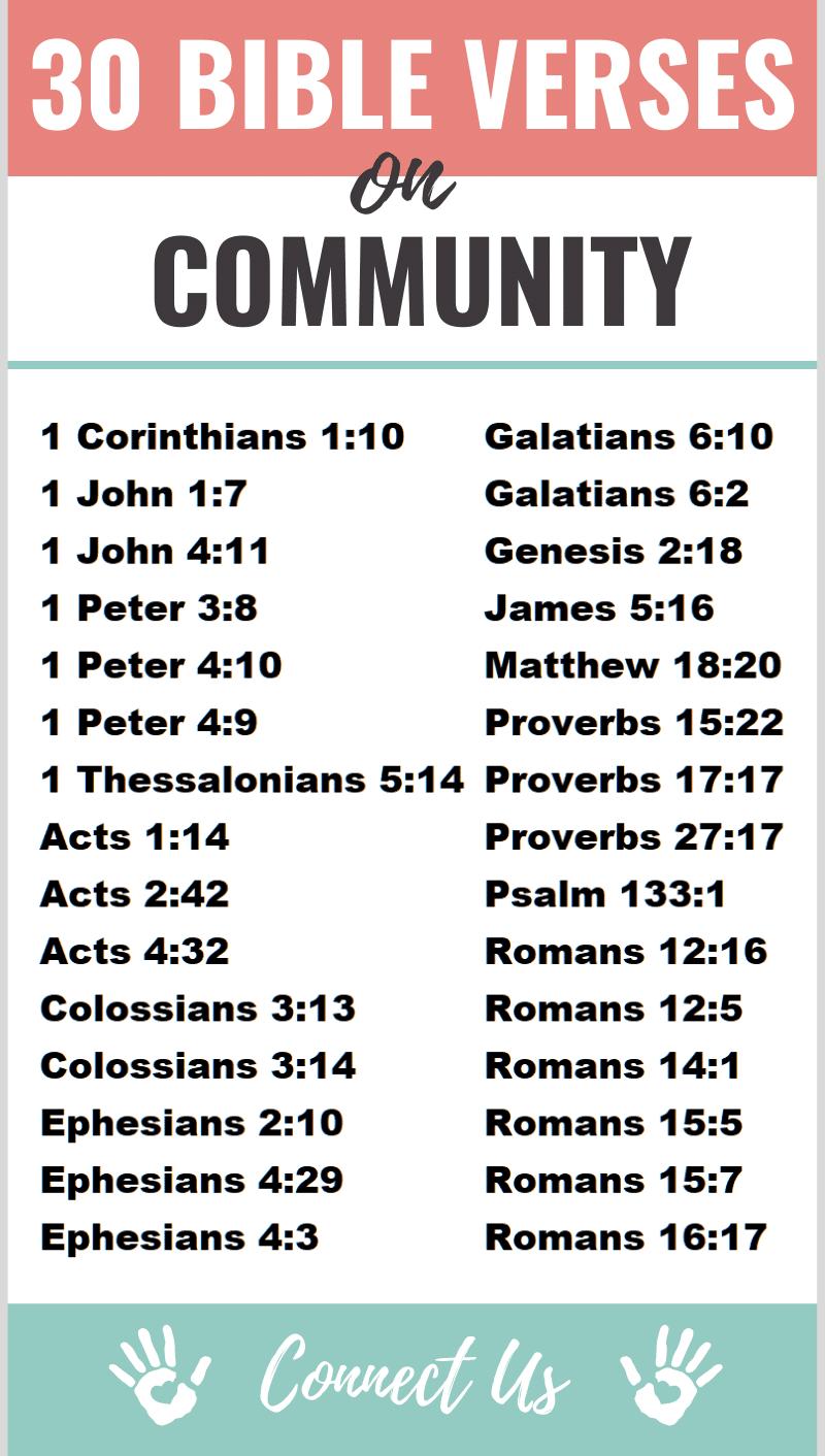 Bible Verses on Community