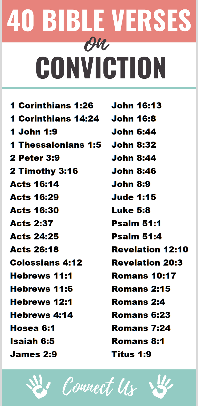 Bible Verses on Conviction