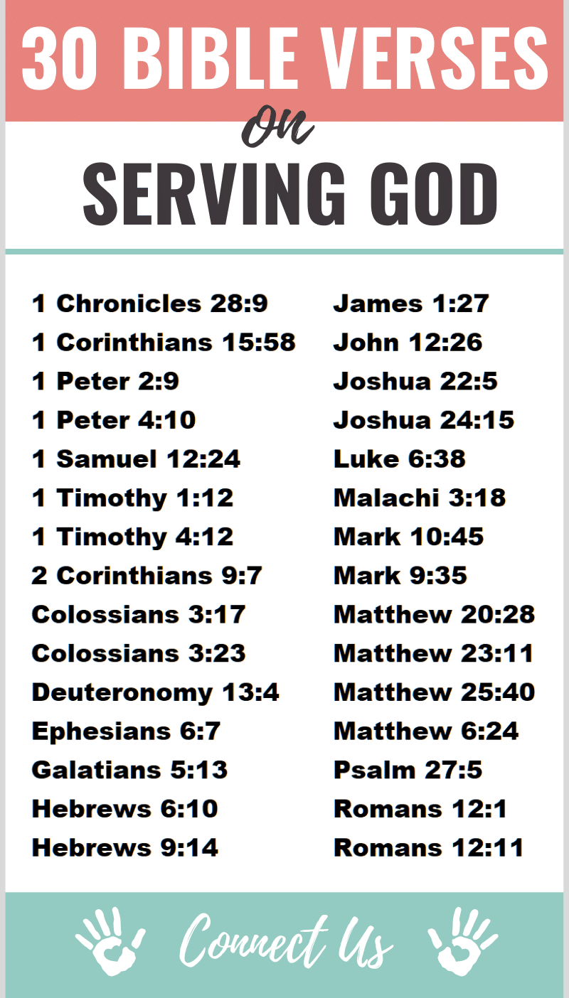 Bible Verses on Serving God