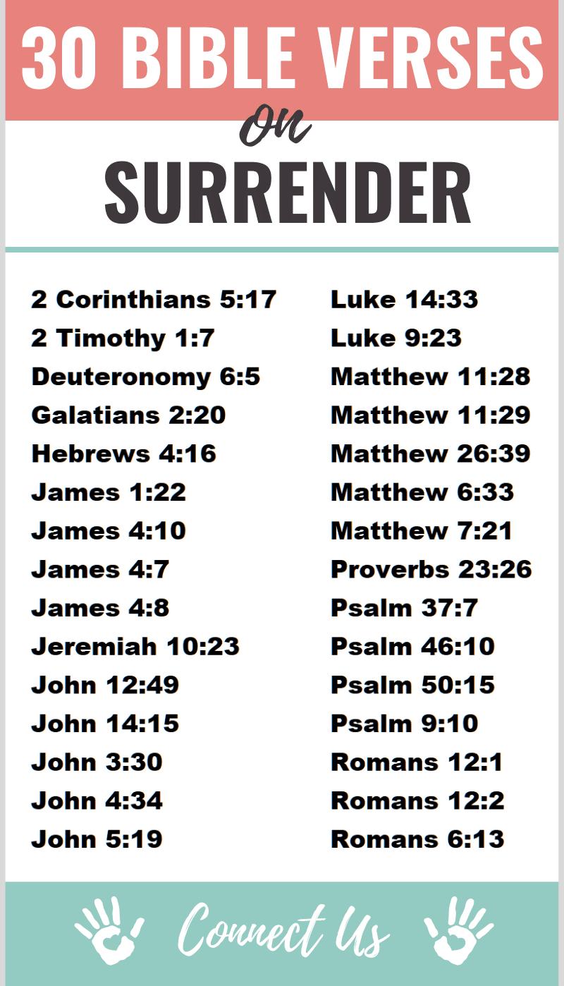 Bible Verses on Surrender