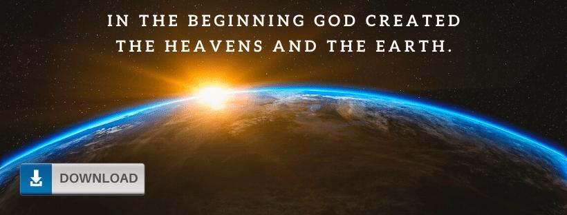 Genesis 1:1 Facebook Cover