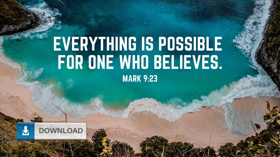 Mark 9:23 Wallpaper