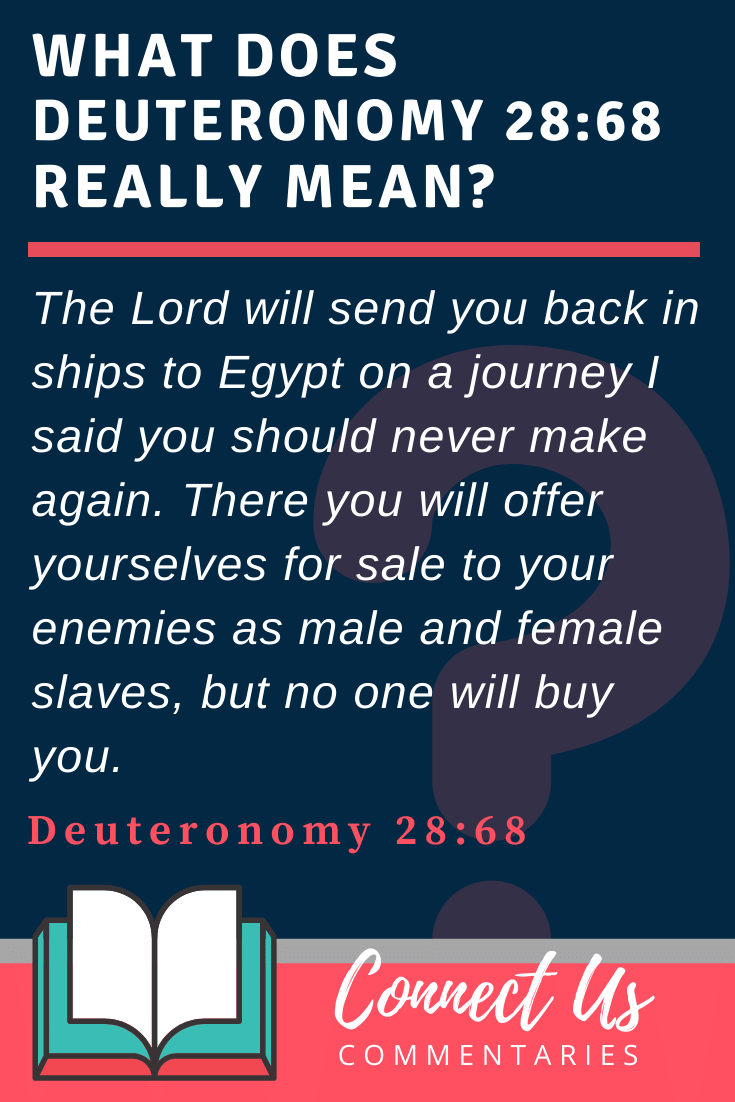 Deuteronomy 28:68 Meaning and Commentary