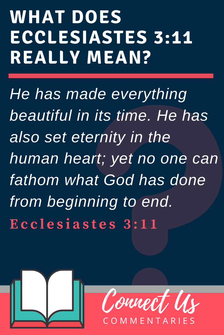 Ecclesiastes 3:11 Meaning and Commentary