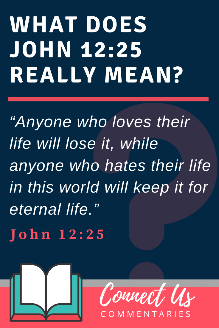 John 12:25 Meaning and Commentary