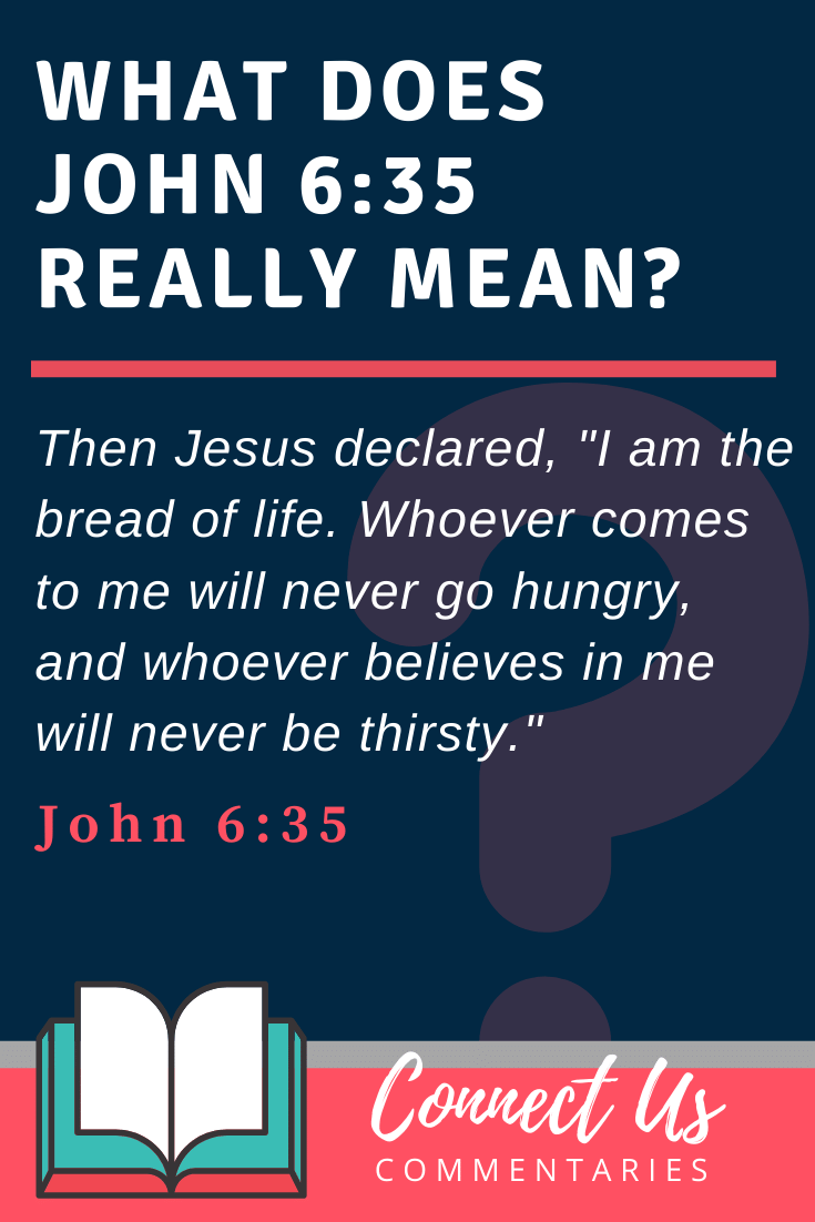 John 6:35 Meaning and Commentary