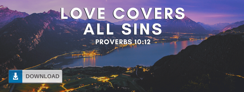 Love Covers All Sins Fb Cover
