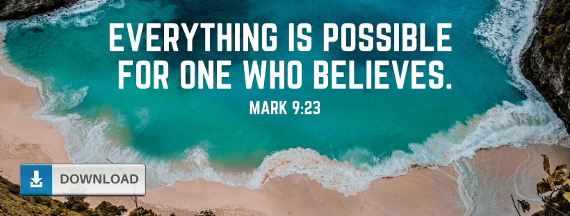 Mark 9:23 Facebook Cover