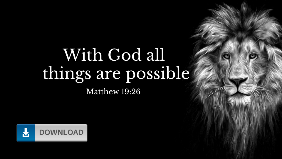 With God All Things Are Possible Wallpaper