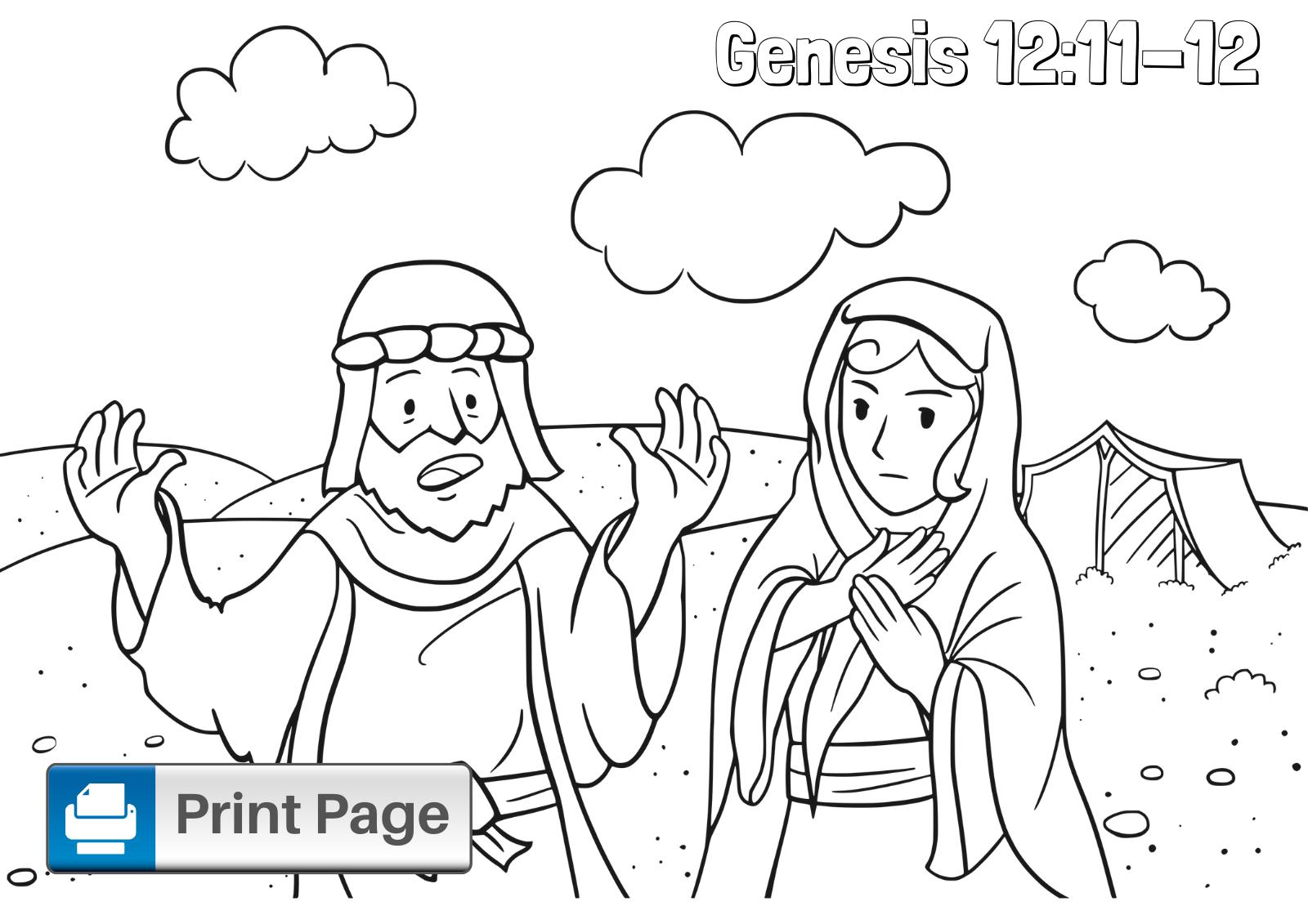 Abraham and Sarah Coloring Sheet