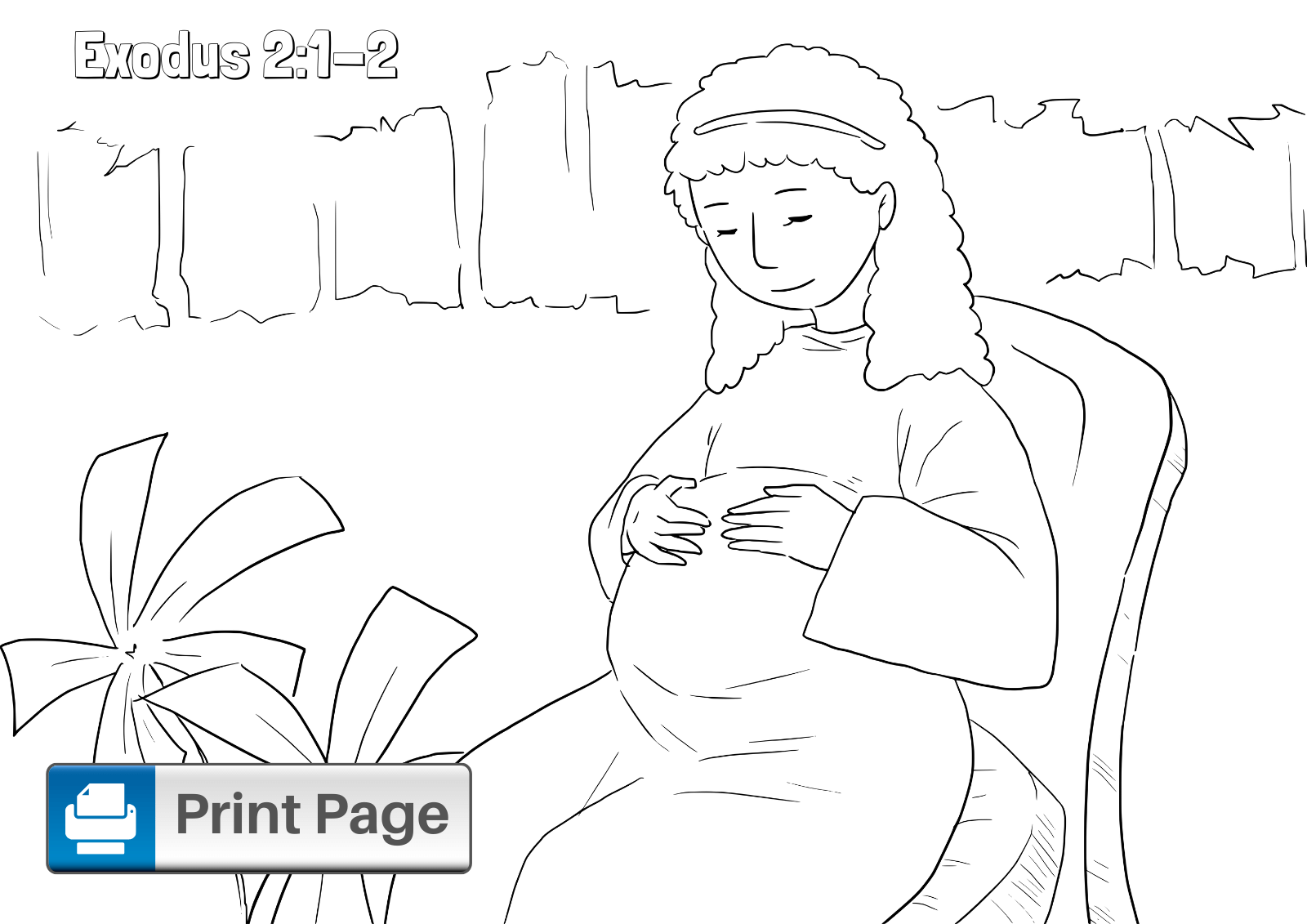 Baby Moses Coloring Picture