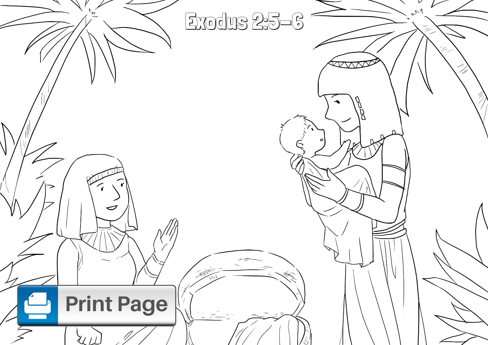 Baby Moses Coloring Sheet