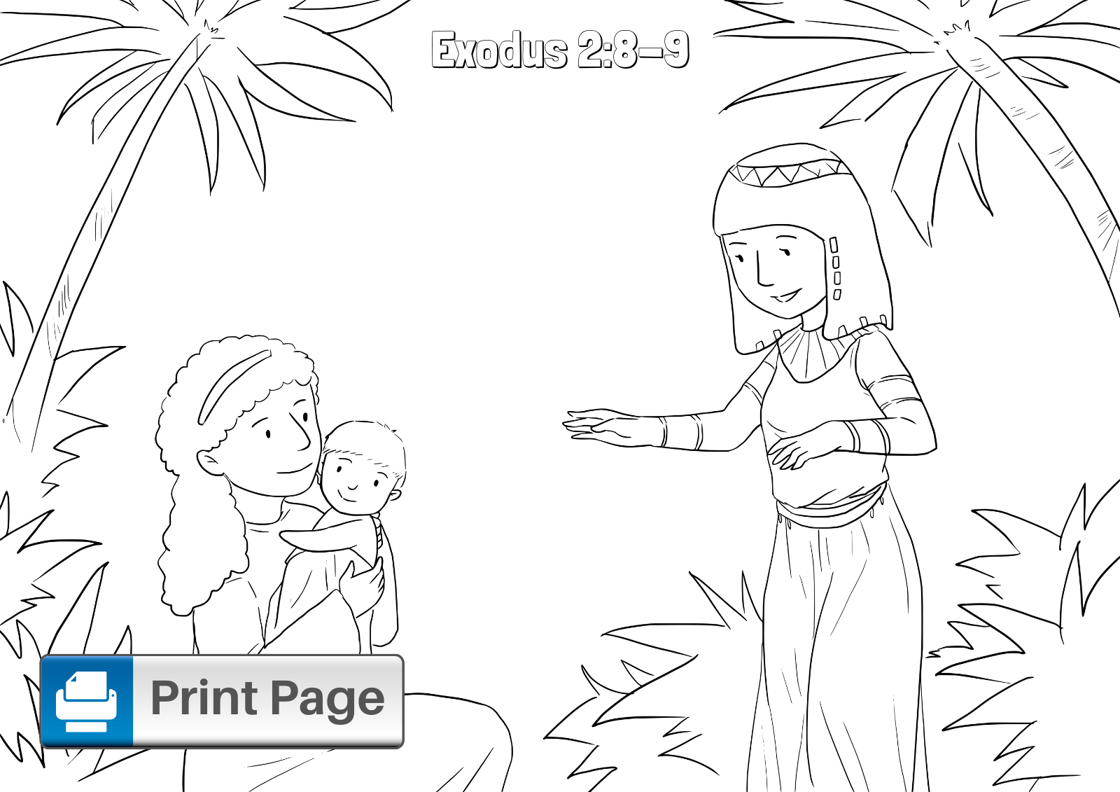 Baby Moses Printable