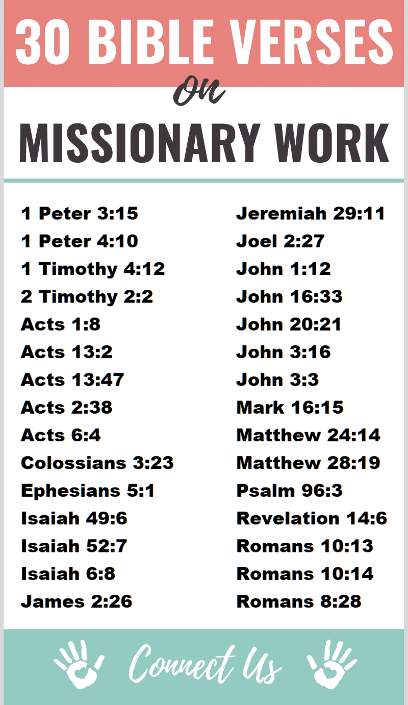 Bible Verses on Missionary Work