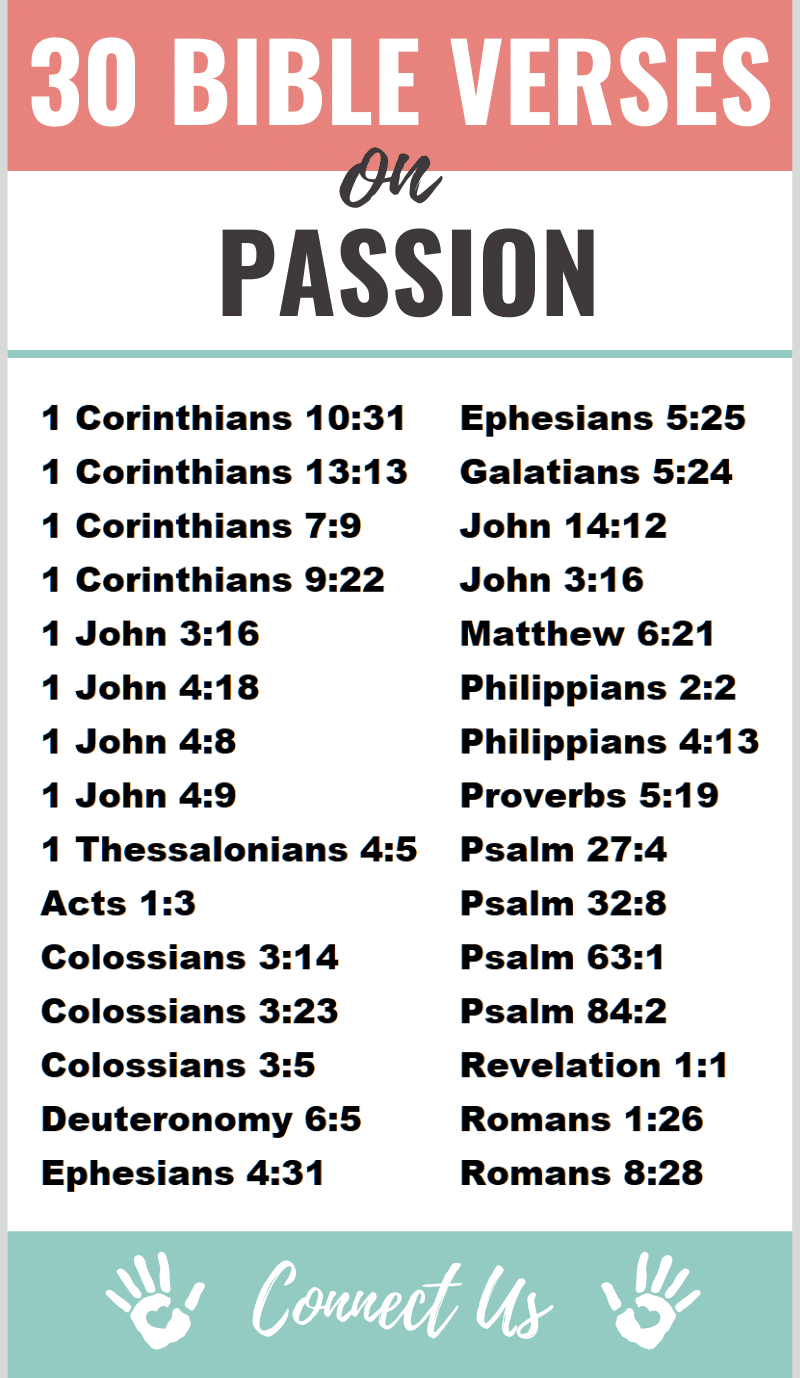 Bible Verses on Passion