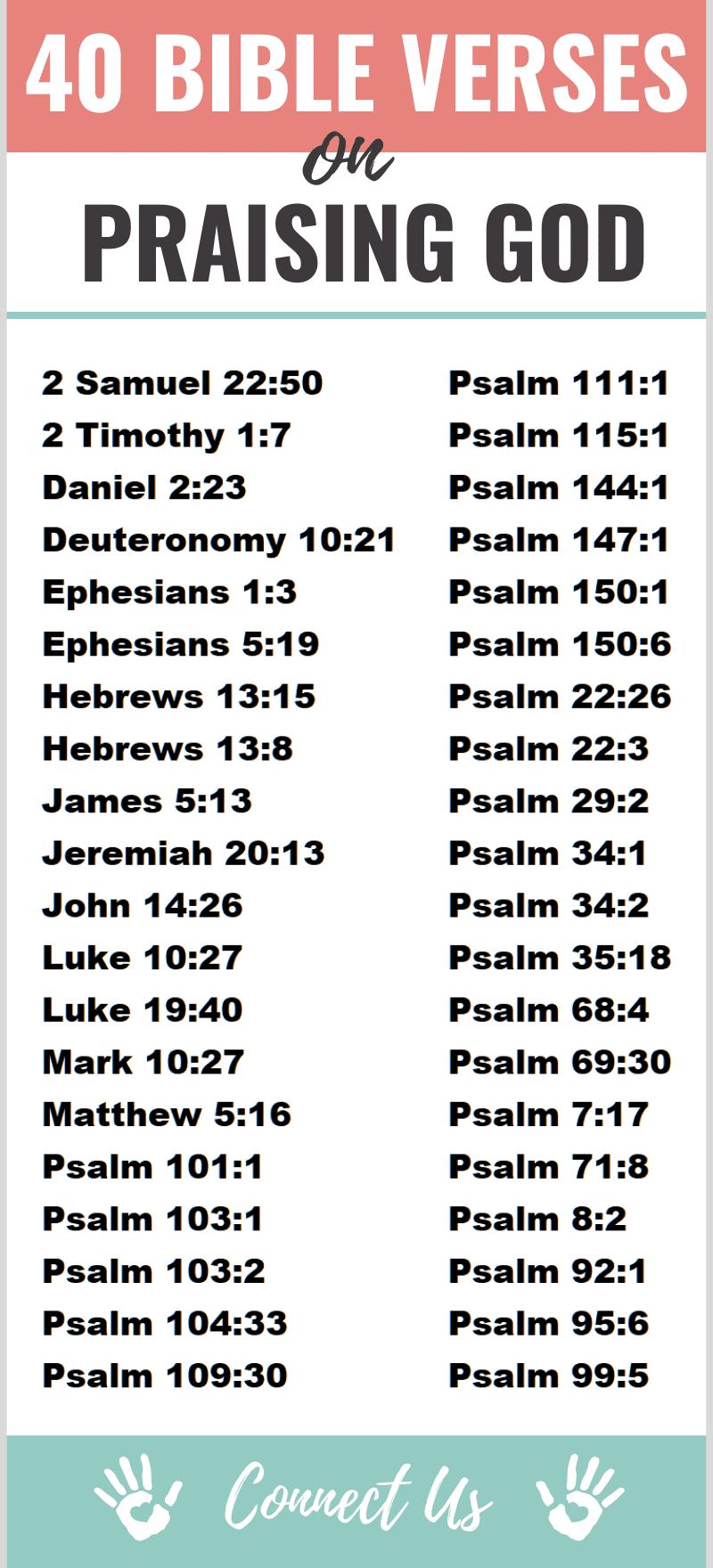 Bible Verses on Praising God