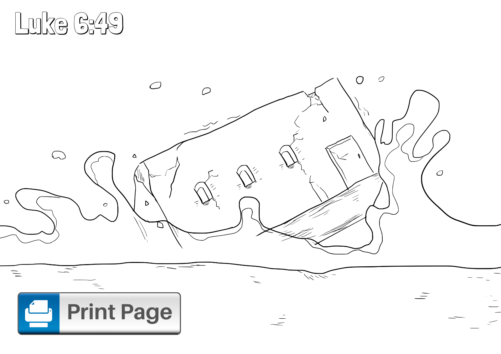 Build Your House on the Rock Coloring Sheet
