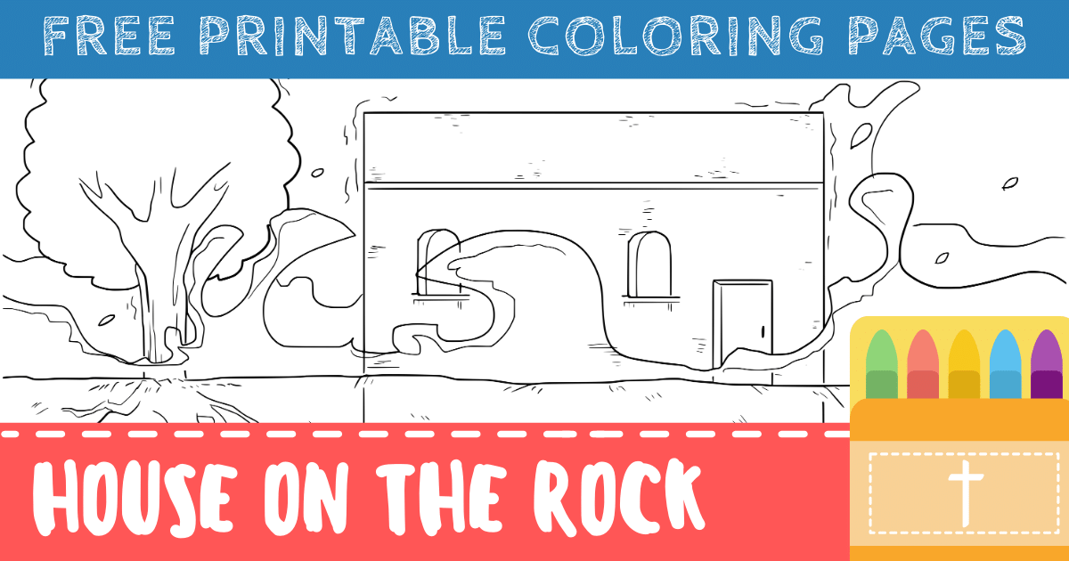 Building Your House on the Rock Coloring Pages