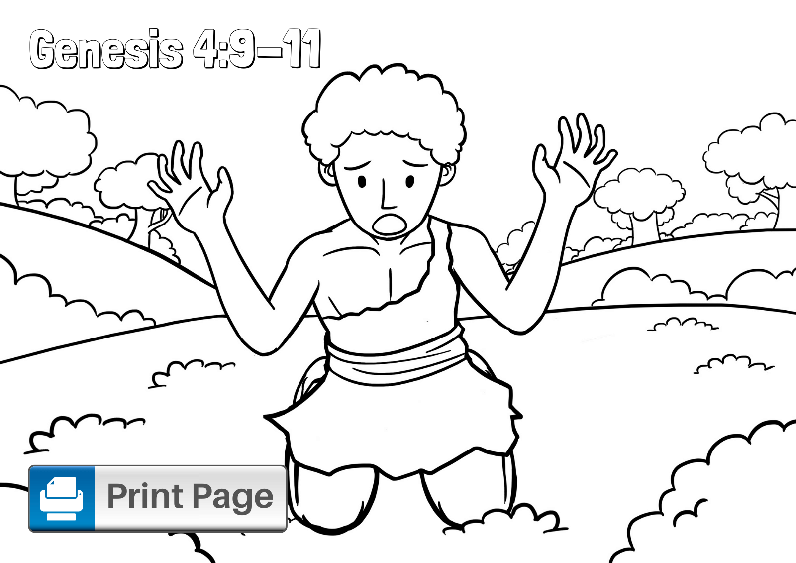 Free Cain And Abel Coloring Pages For Kids Printable Pdfs Connectus