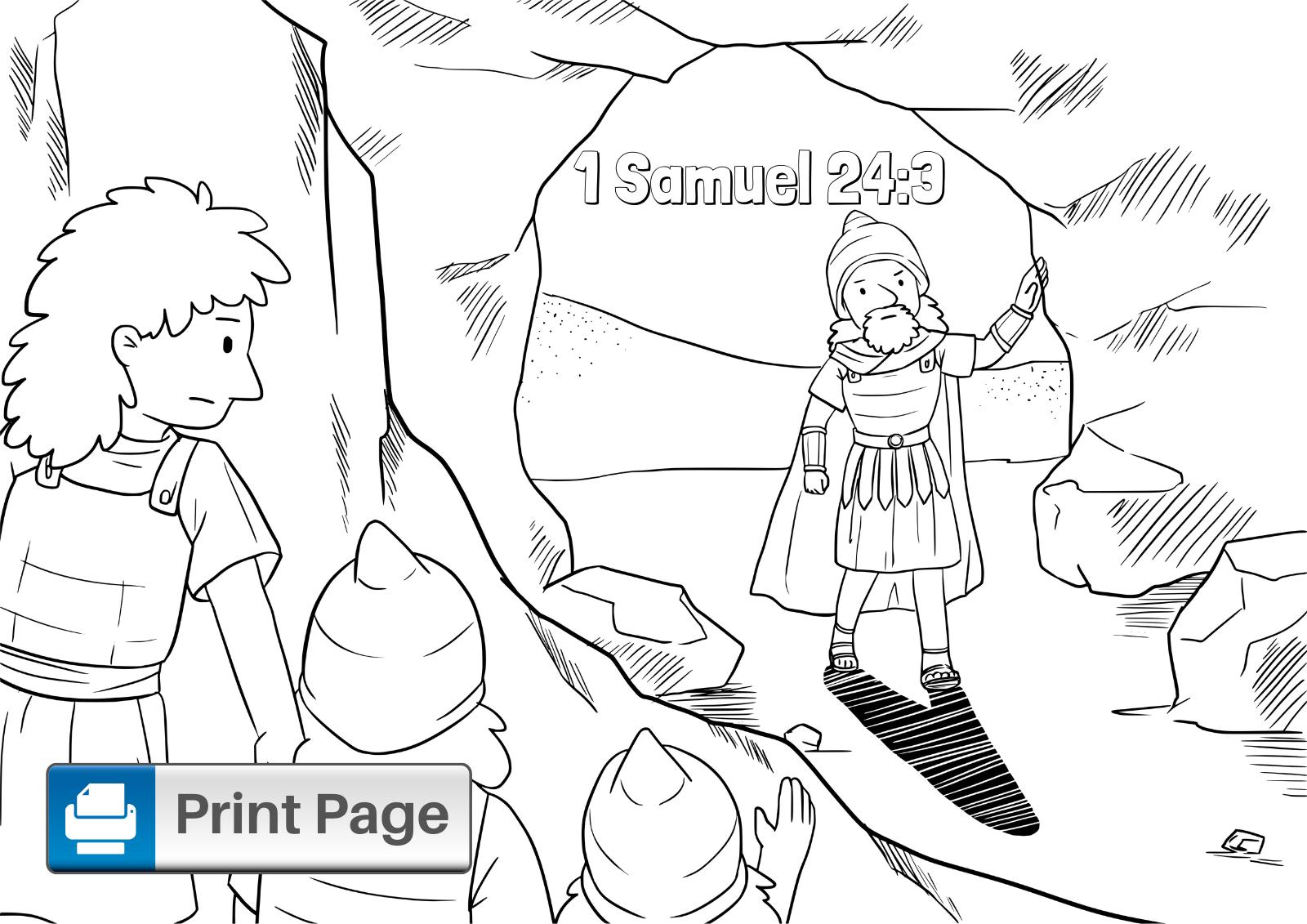 David and Saul Coloring Page