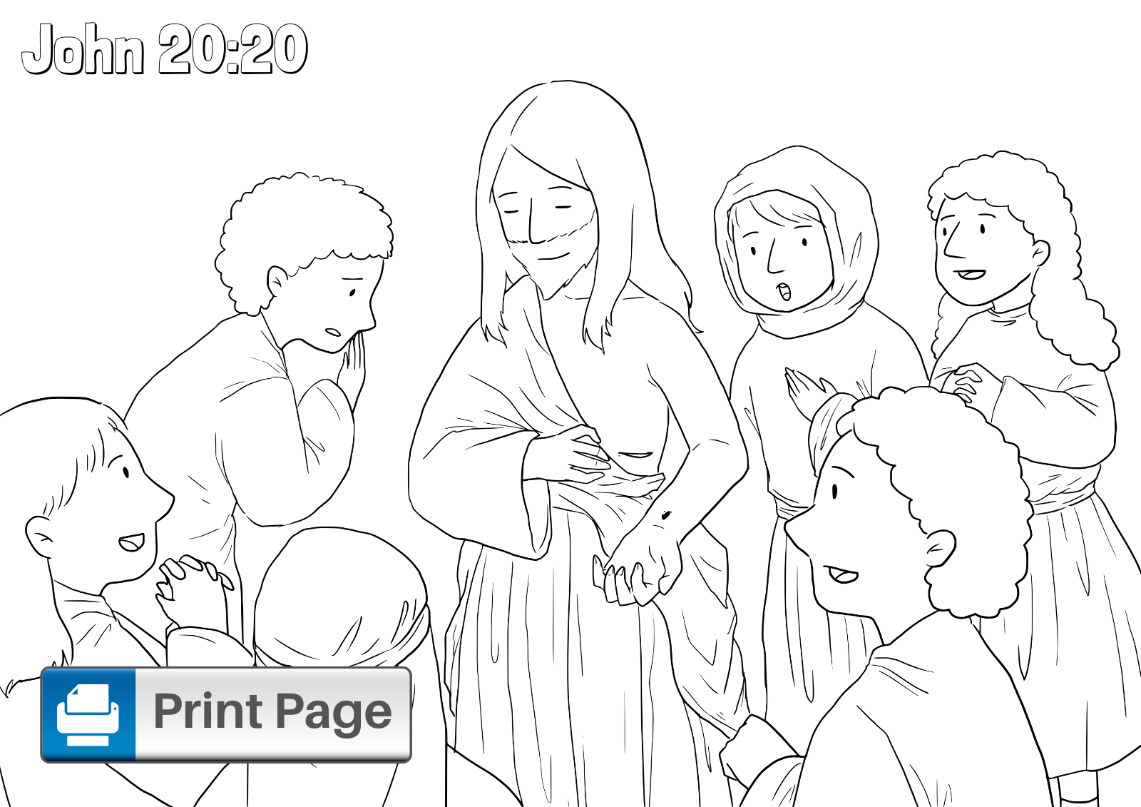 Doubting Thomas Coloring Sheet