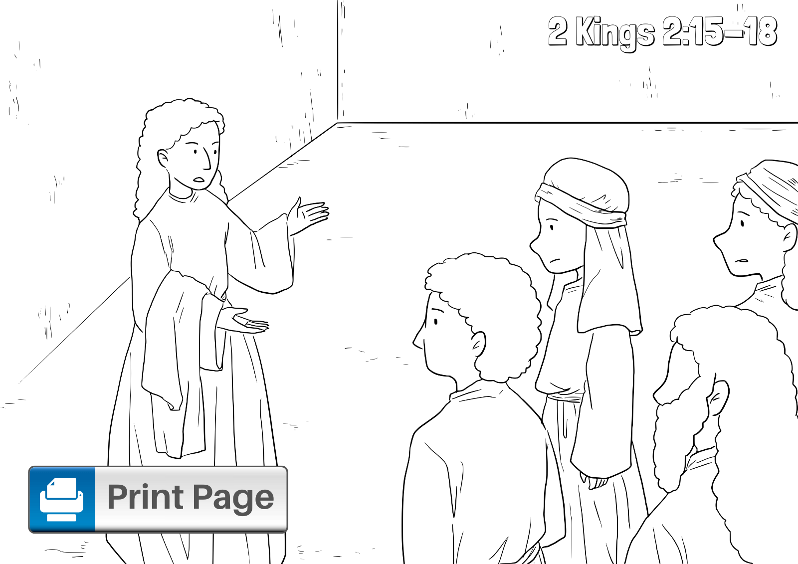 Elisha and the Chariots of Fire Coloring Page