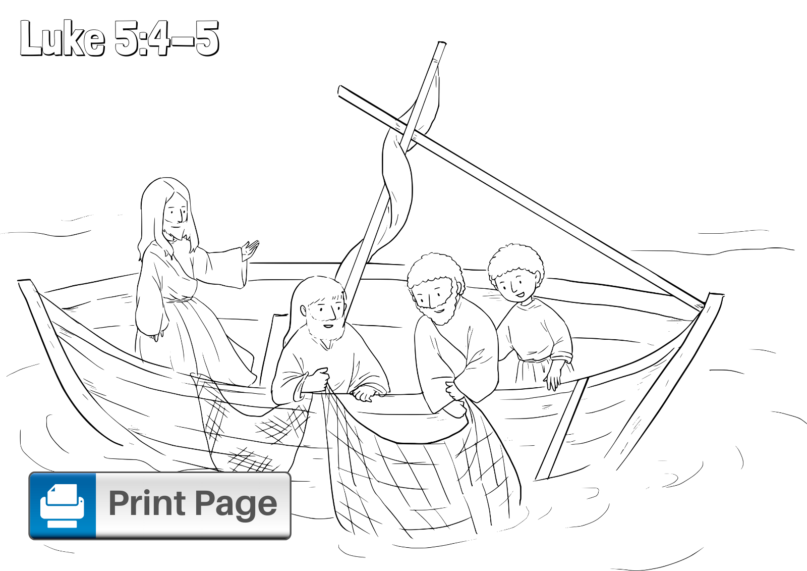Fishers of Men Coloring Sheet