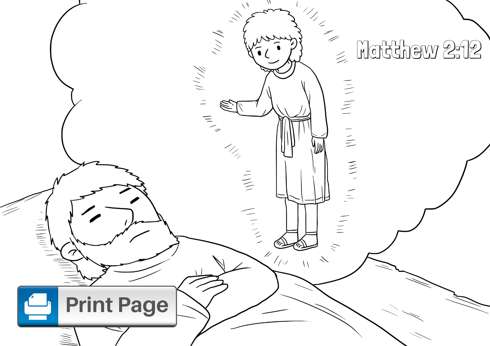 Flight into Egypt Coloring Page