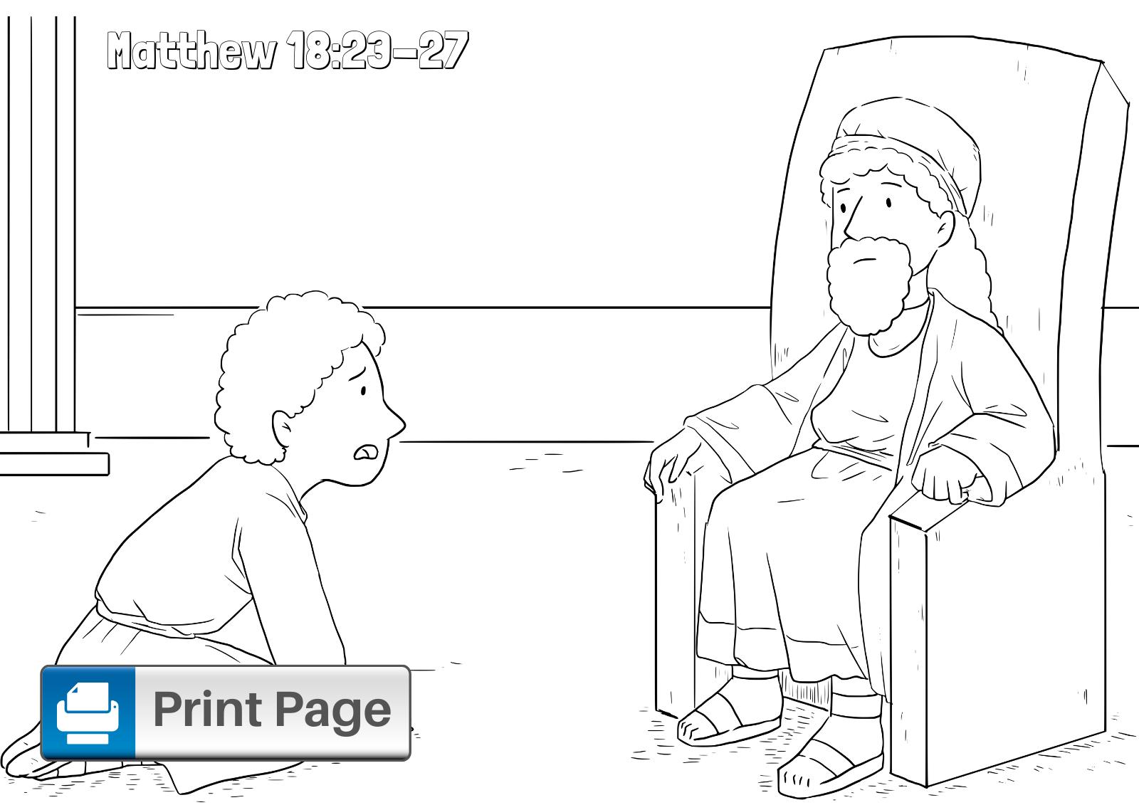 Forgiveness Bible Coloring Page