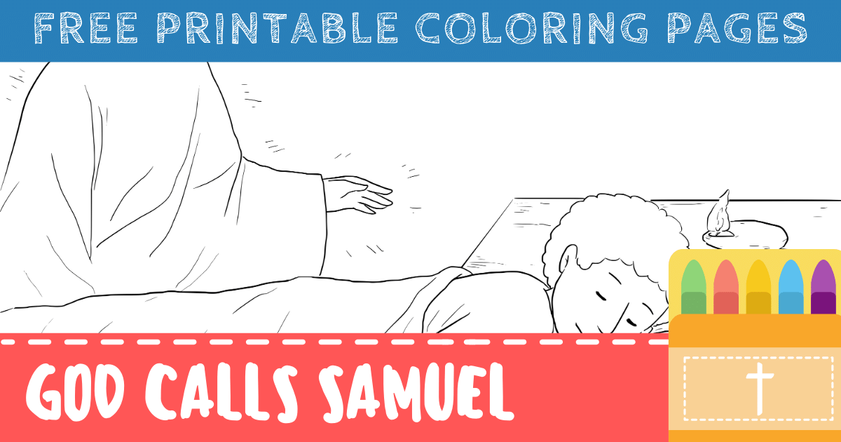 God Calls Samuel Coloring Pages