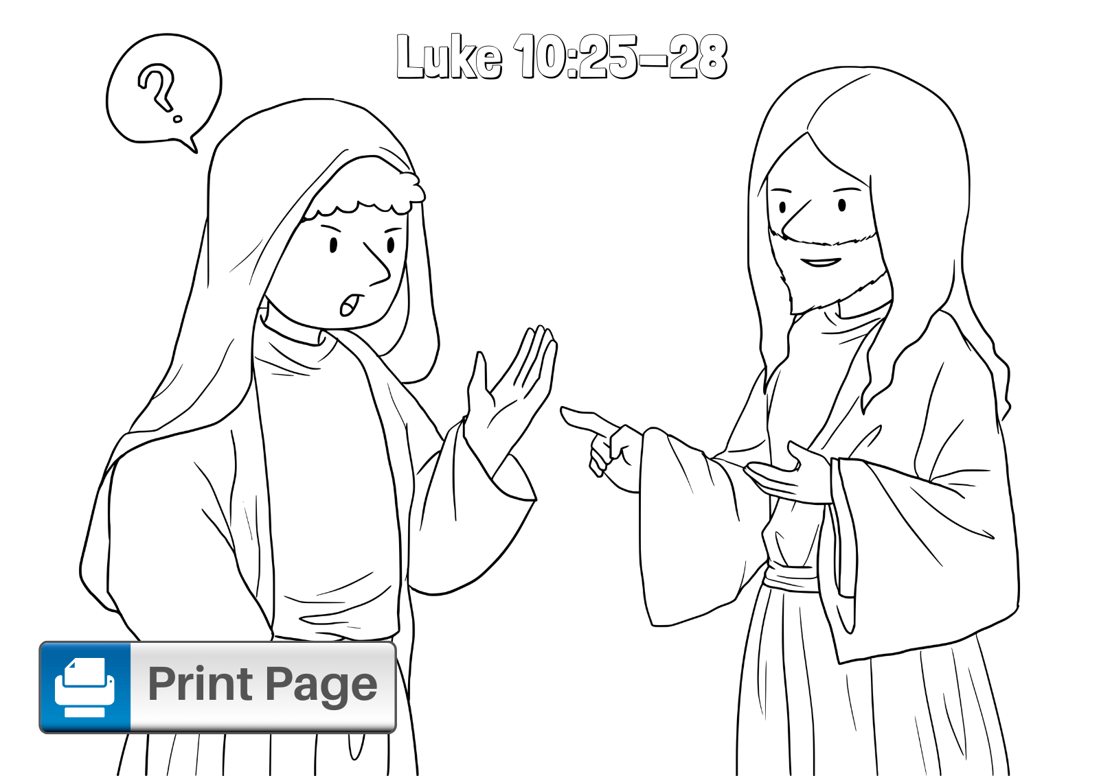 Good Samaritan Coloring Sheet