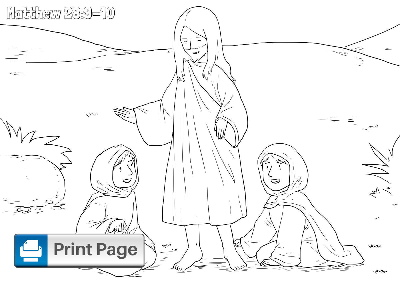 He Has Risen Coloring Pages