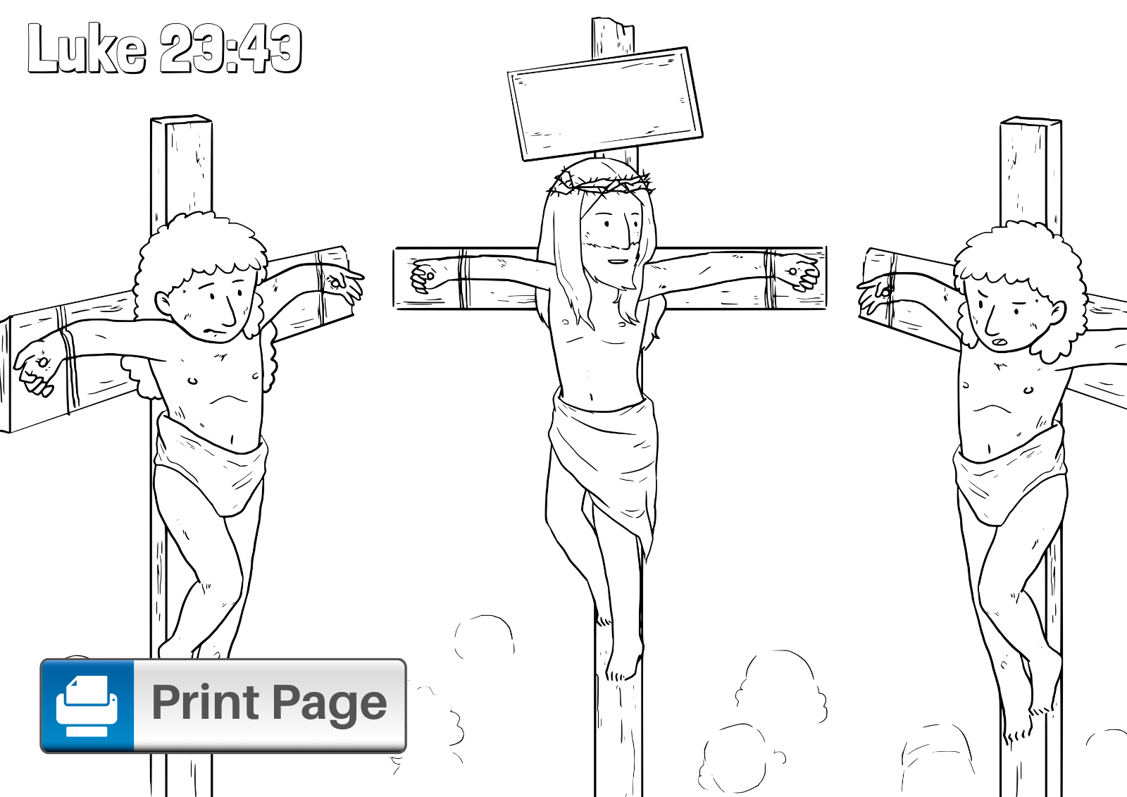 Crucifixion of Christ Jesus on the Cross and Two Thieves coloring ... | 1131x1600