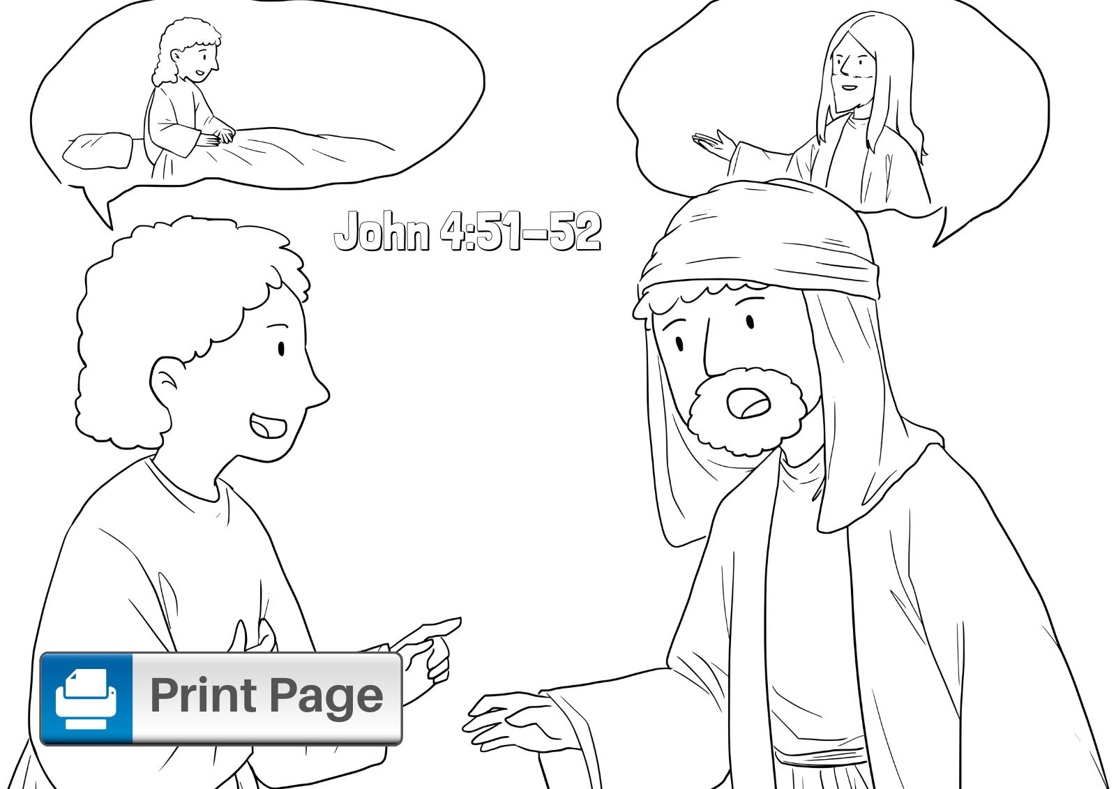 Jesus Healing Coloring Page