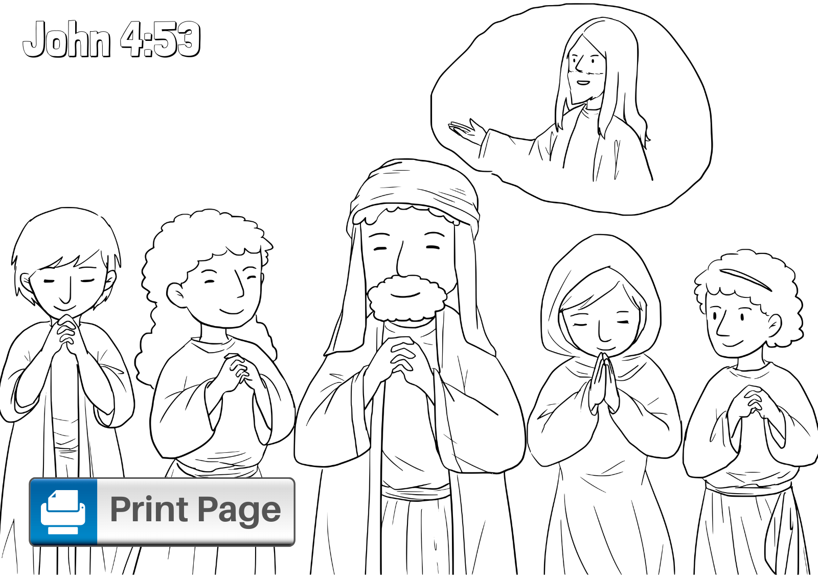 Jesus Healing Coloring Sheet