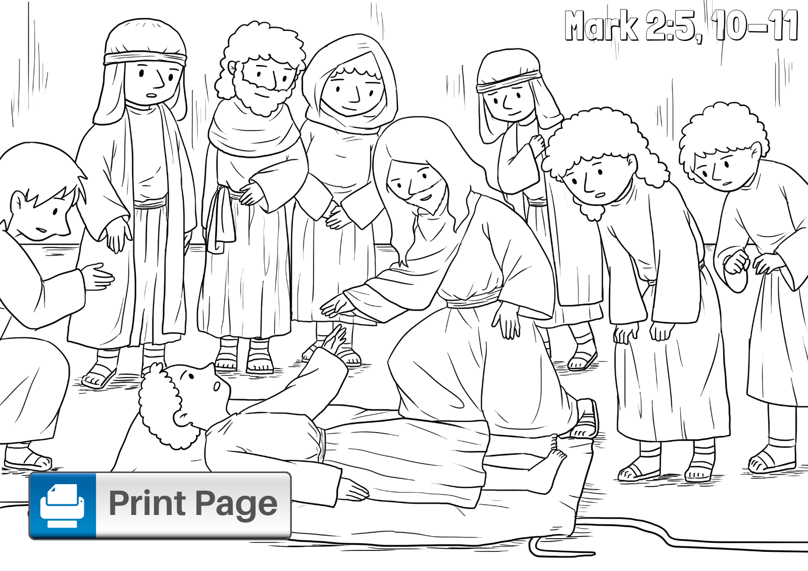 Jesus Healing Paralytic for Kids