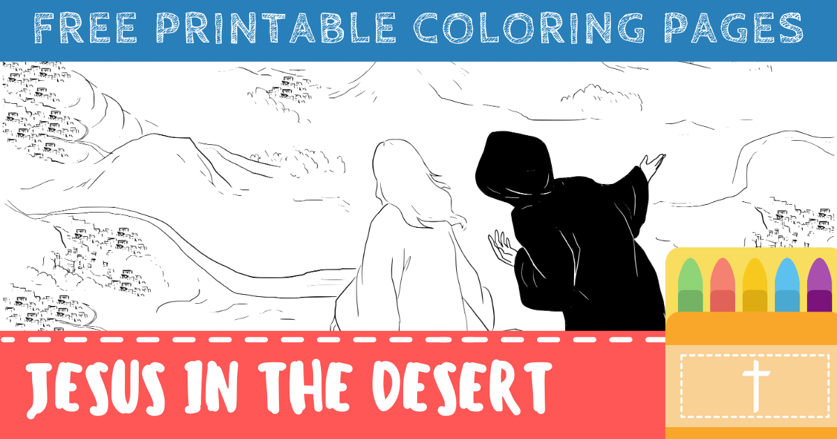 Jesus Tempted in the Desert Coloring Pages