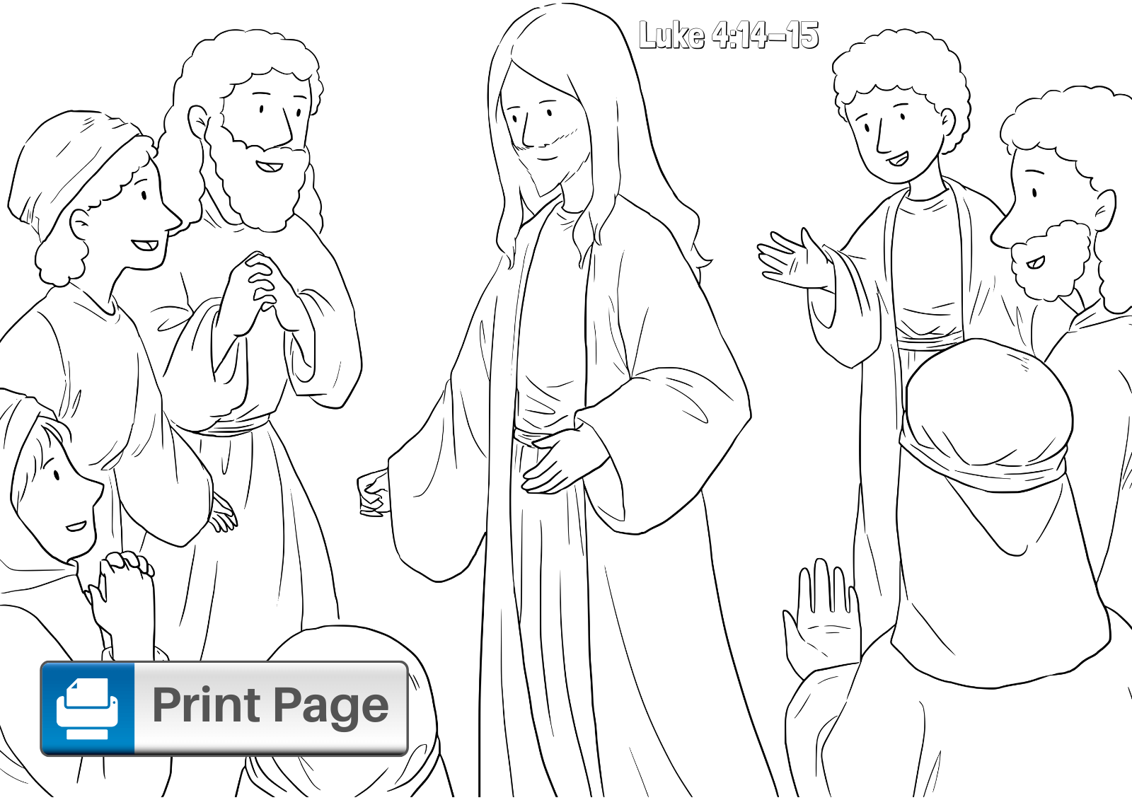 Jesus Tempted in the Desert Coloring Sheet