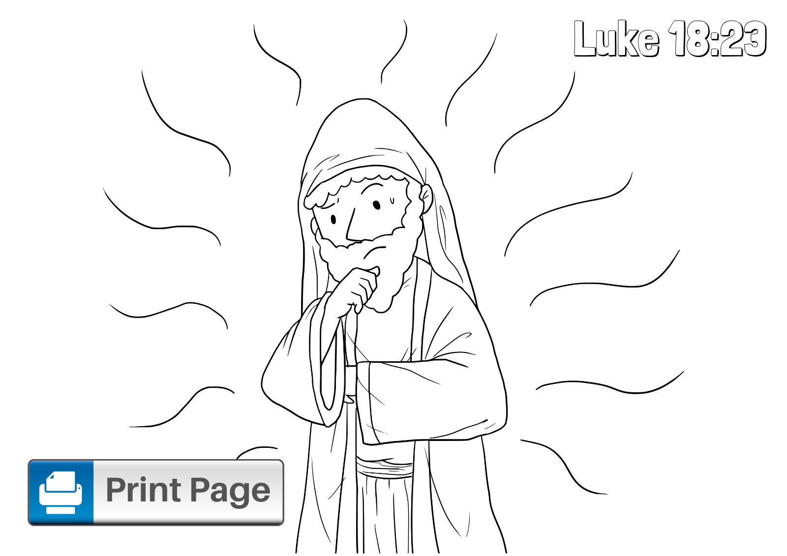 Jesus and the Rich Man Coloring Page