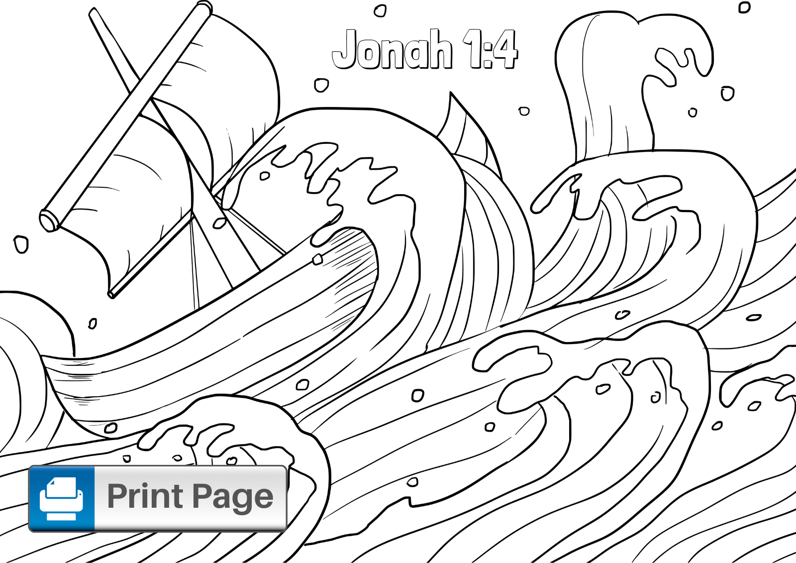 Jonah Coloring Sheet
