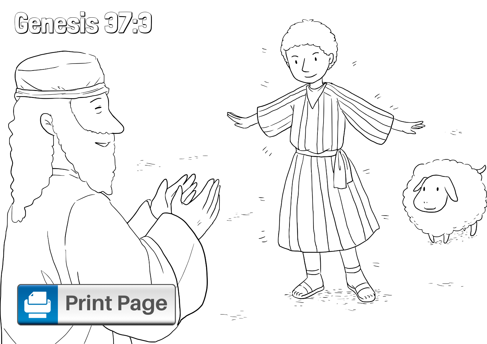Joseph And His Brothers Coloring Pages For Kids Connectus