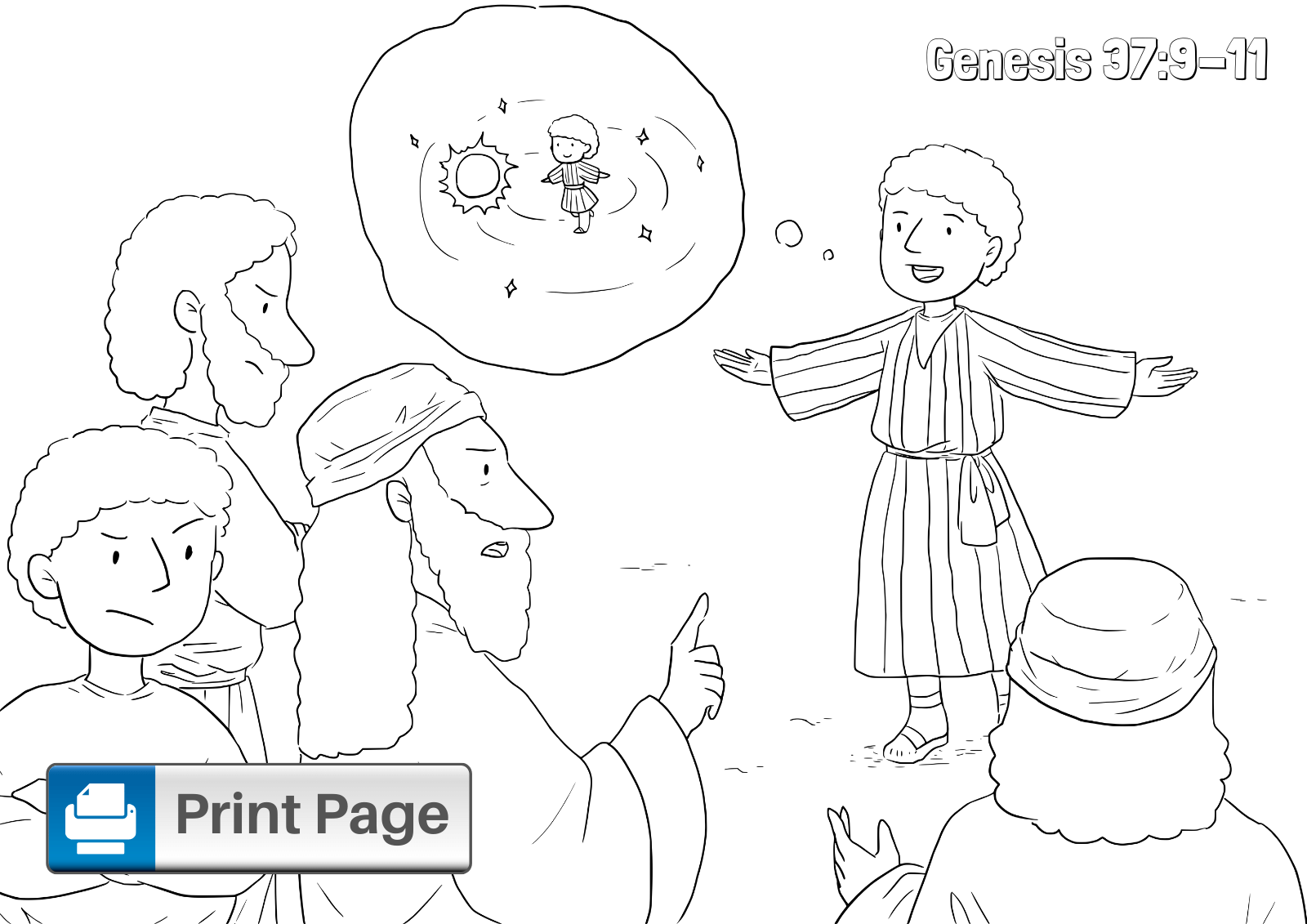 Joseph and His Brothers Coloring Sheet