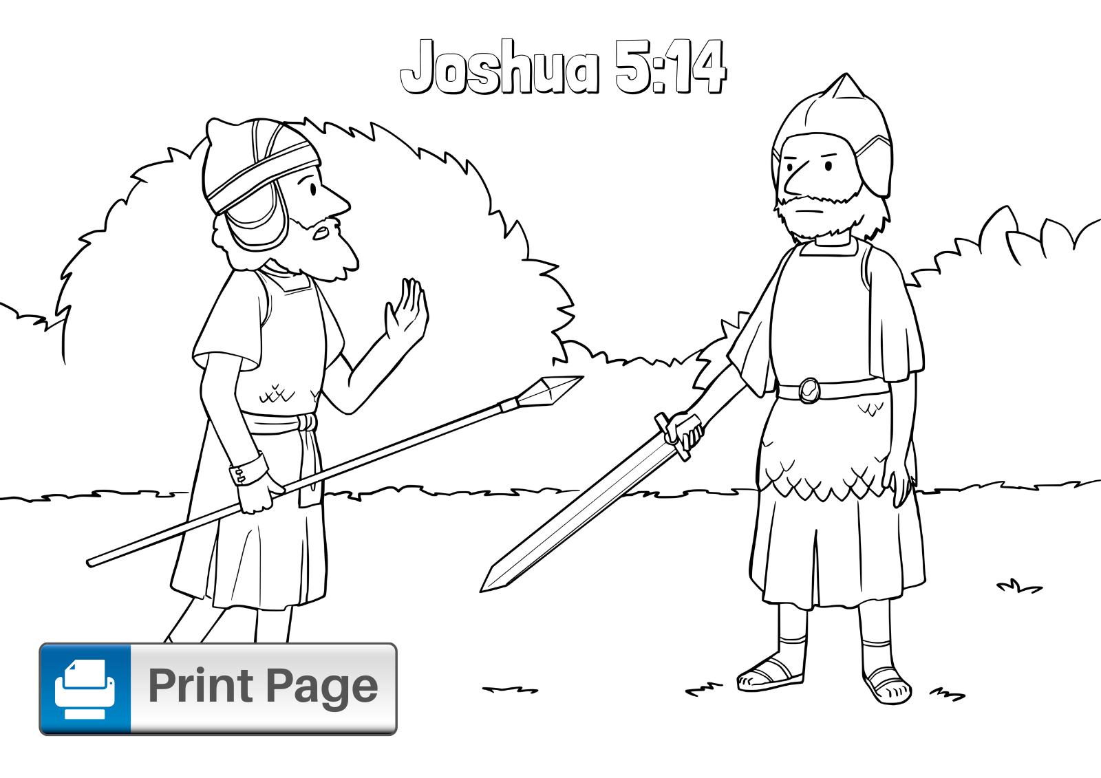 Joshua Coloring Page