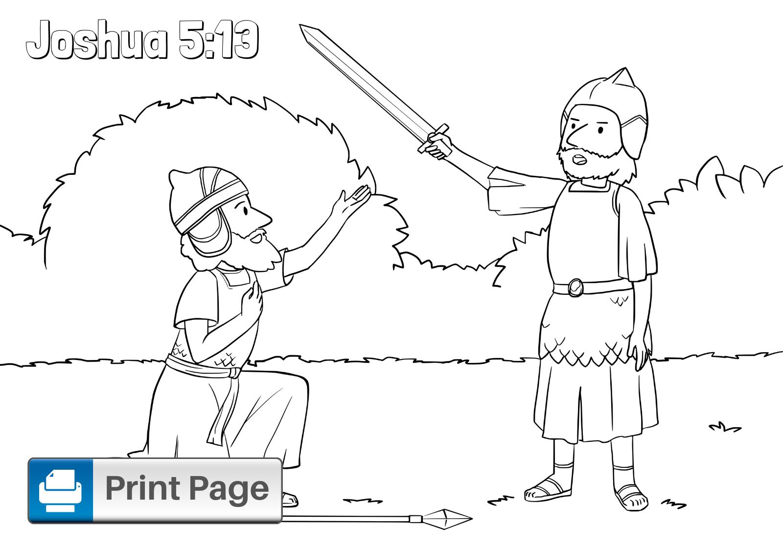 Joshua an Jericho Coloring Page