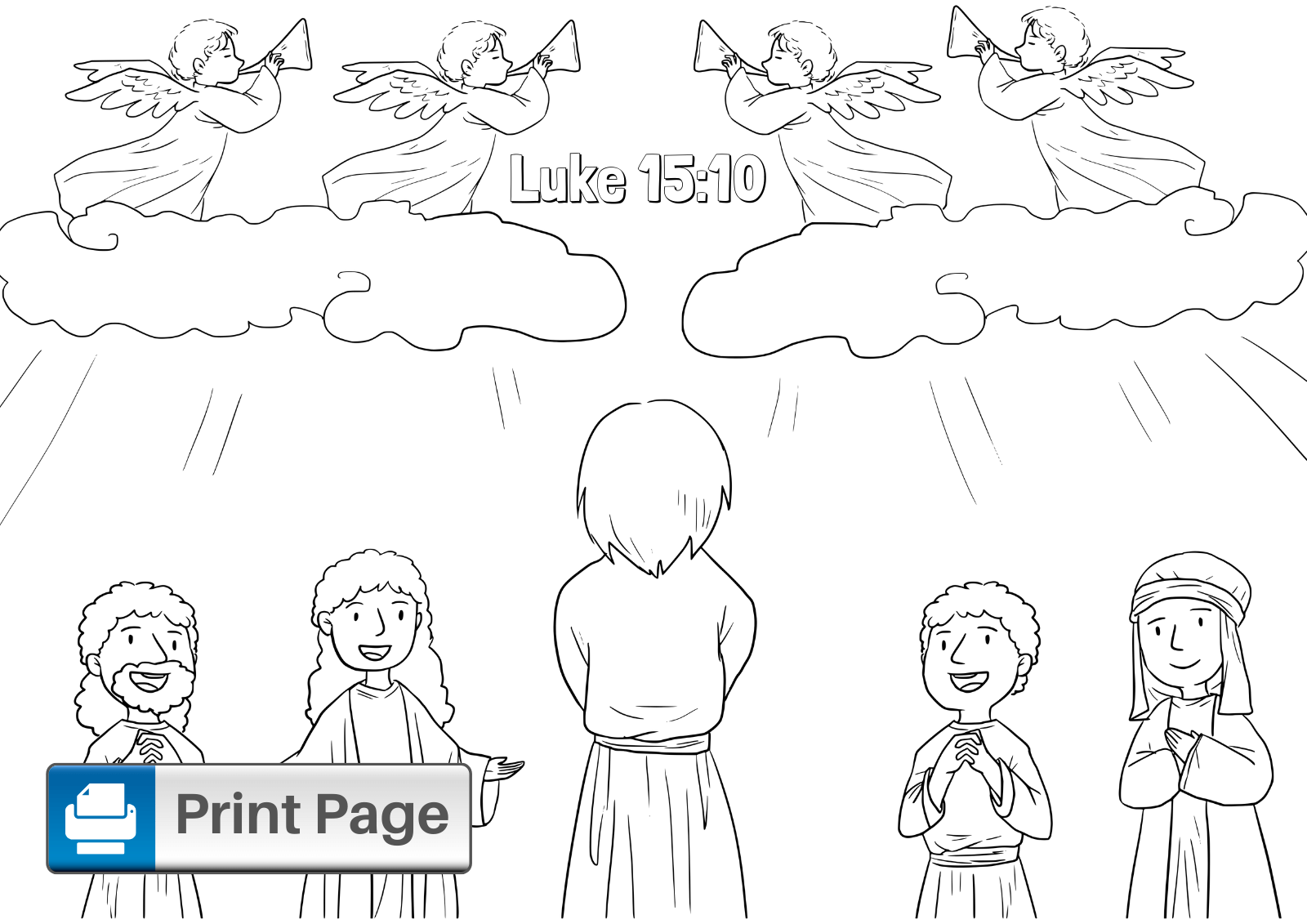 Lost Coin Coloring Page