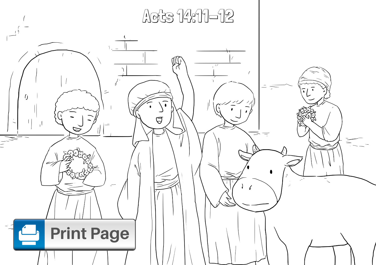 Paul and Barnabas Coloring Sheet