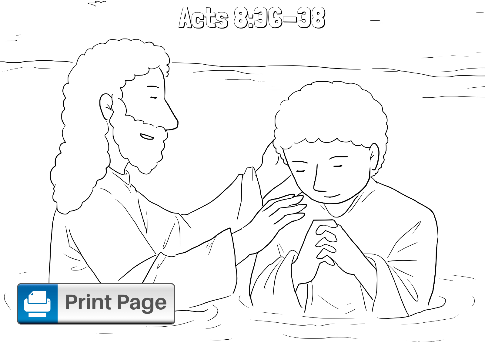 Philip And The Ethiopian Coloring Pages For Kids Printable Pdfs Connectus
