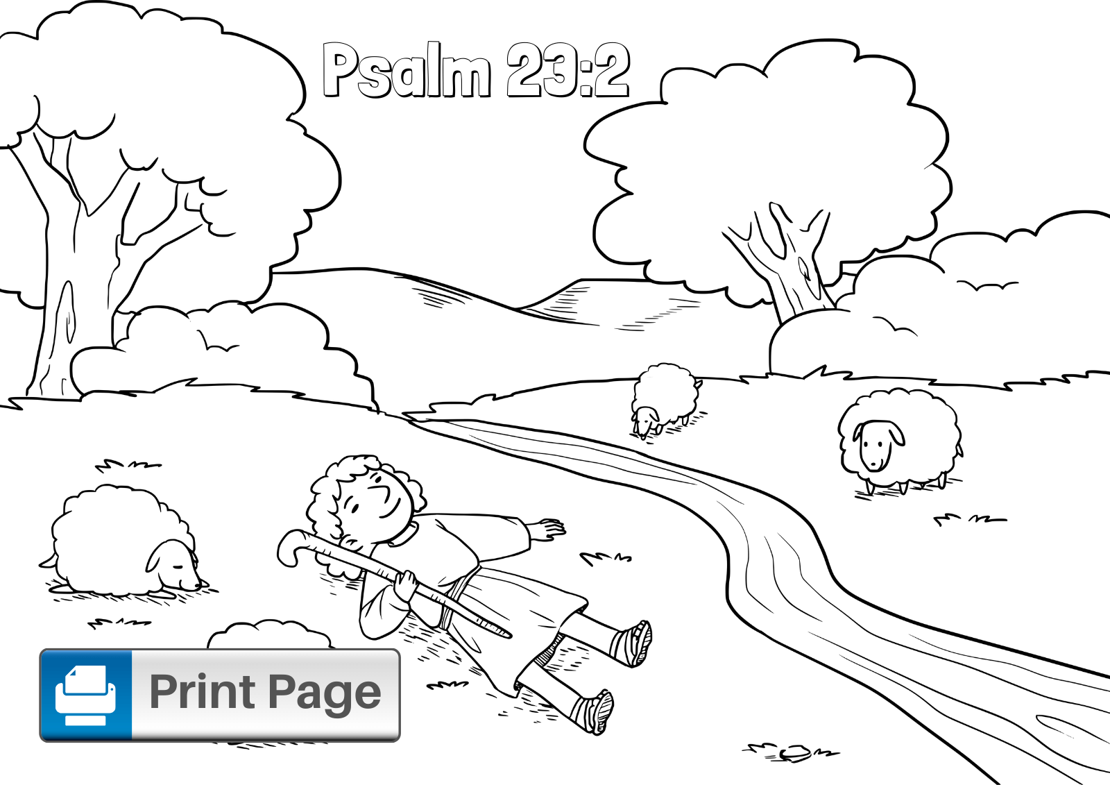Free Printable Psalm 23 Coloring Pages For Kids Connectus