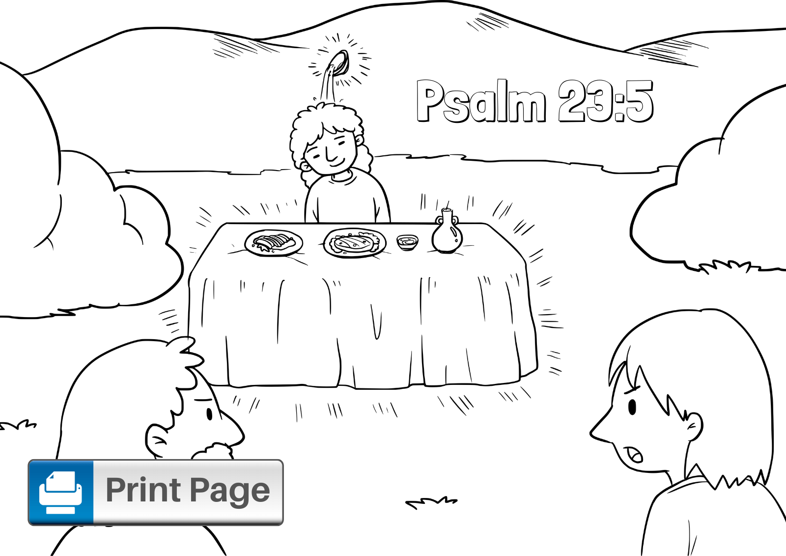 Psalm 23 Coloring Printable Page